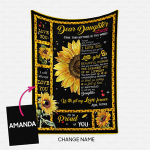 Personalized Blanket Gift Idea - More Than Anything In This World For Father's Daughter - Fleece Blanket