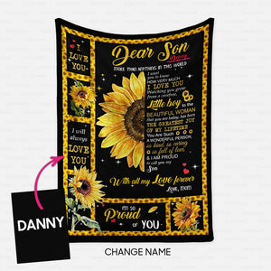 Personalized Blanket Gift Idea - More Than Anything In This World For Mother's Son - Fleece Blanket