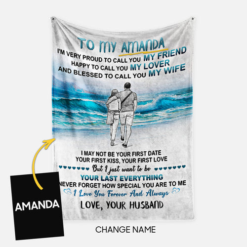 Personalized Blanket Gift Idea - To My Wife, I Love You Forever And Always - Fleece Blanket