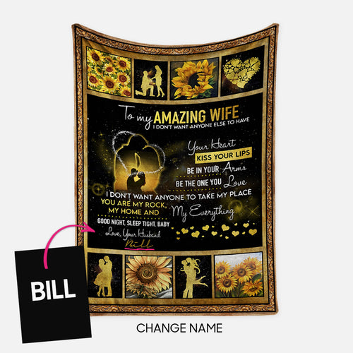Personalized Blanket Gift Idea - To My Amazing Wife For Your Wife - Fleece Blanket