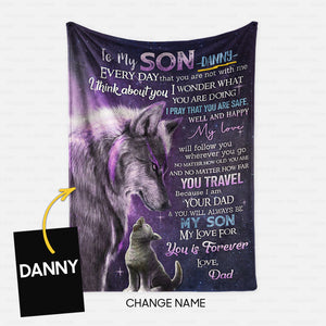 Personalized Blanket Gift Idea - To My Son, I Think About You For Your Daughter - Fleece Blanket