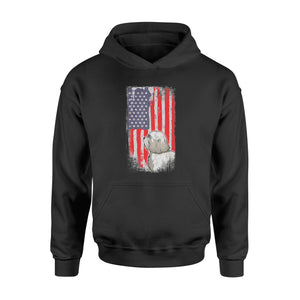 Havanese American Flag Patriotic 4th of July Shirt - Standard Hoodie