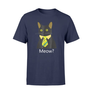 Cat Yellow Tie Shirt Black Business Cat Kitten T-Shirt - Standard T-shirt
