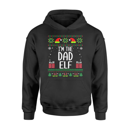 Christmas gift idea Mens Mens I'm The Dad Elf Outfit Matching Xmas Family T-Shirt - Standard Hoodie