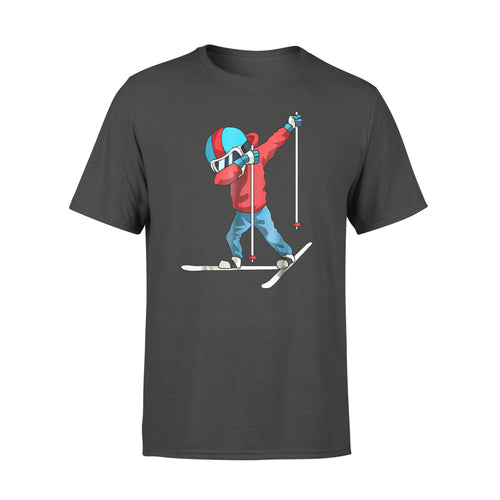 Sport gift idea Dabbing Freestyle Skiing - Standard T-shirt