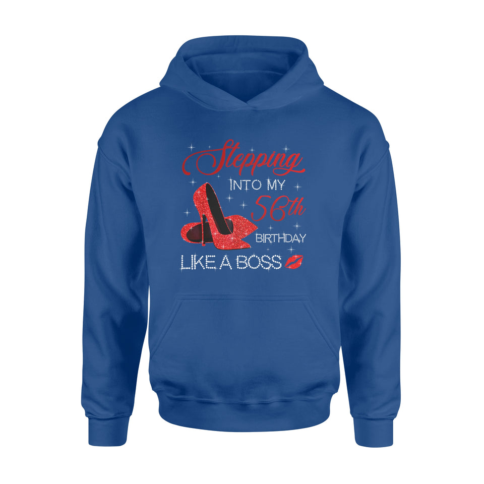 Birthday Gift Idea Womens Stepping into my 56th in 1963 - Standard Hoodie