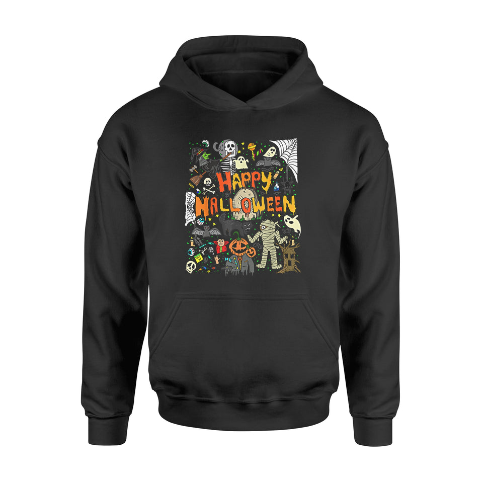 Halloween Gift Ideas Happy Halloween Scary Retro - Standard Hoodie