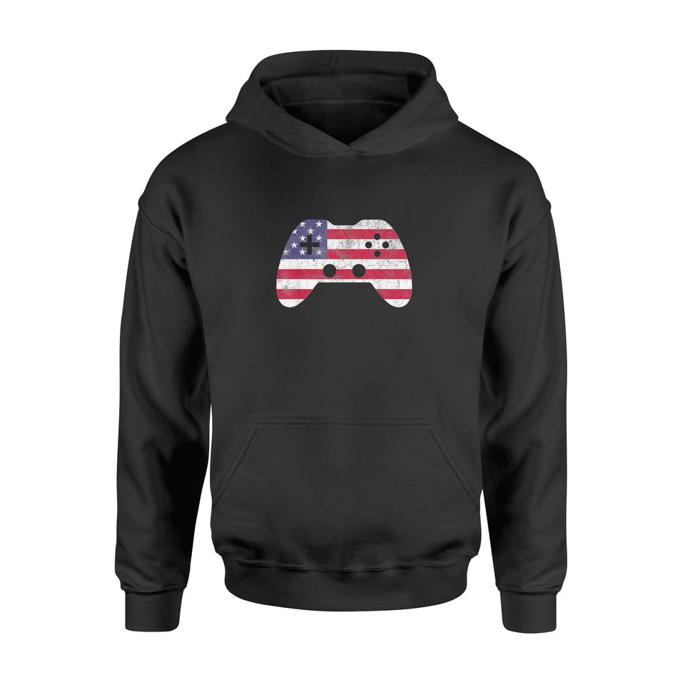 4th Of July T Shirt Gift Video Game Gamer Shirt - Standard Hoodie