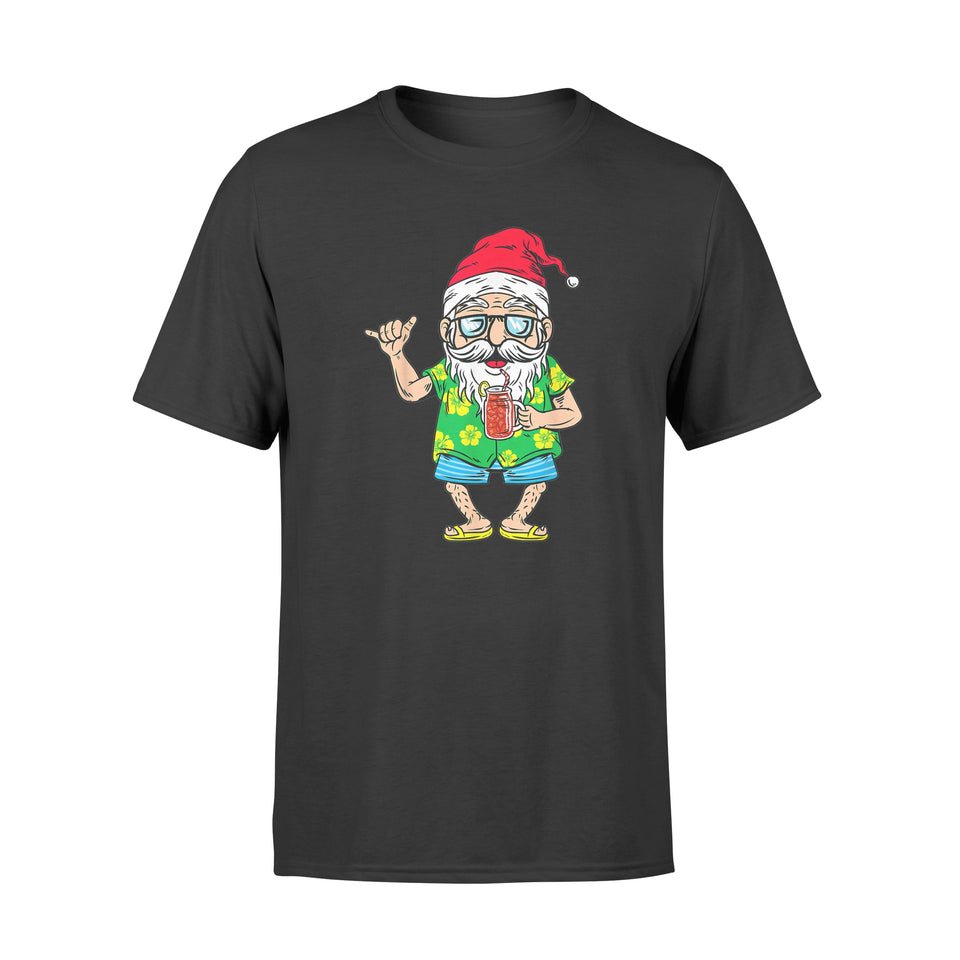 Christmas In July 2019 Santa Hawaiian Beach Summer - Standard T-shirt