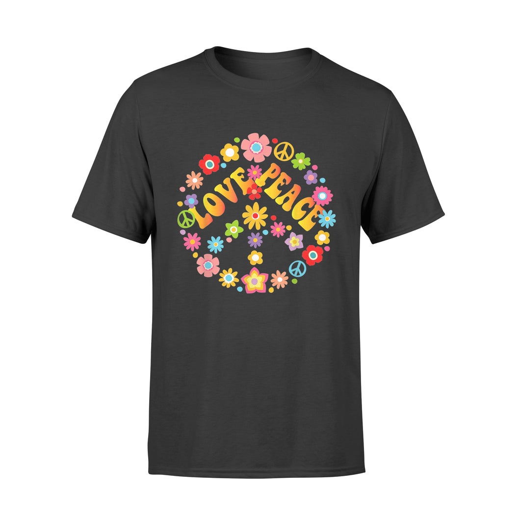 Tie Dye Hippie Shirt Peace Sign Love 60s 70s - Standard T-shirt