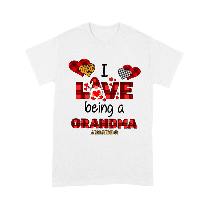 Personalized Love Gift Idea - I Love Being A Grandma - Standard T-shirt