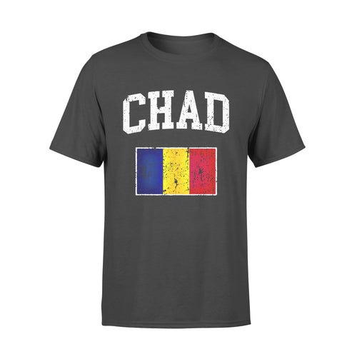 Politics Gift Idea Vintage Chad Flag Pullover College - Standard T-shirt