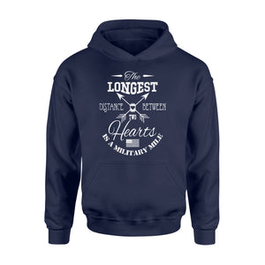 Military Gift Idea The Longest Distance Womens Fitted - Standard Hoodie