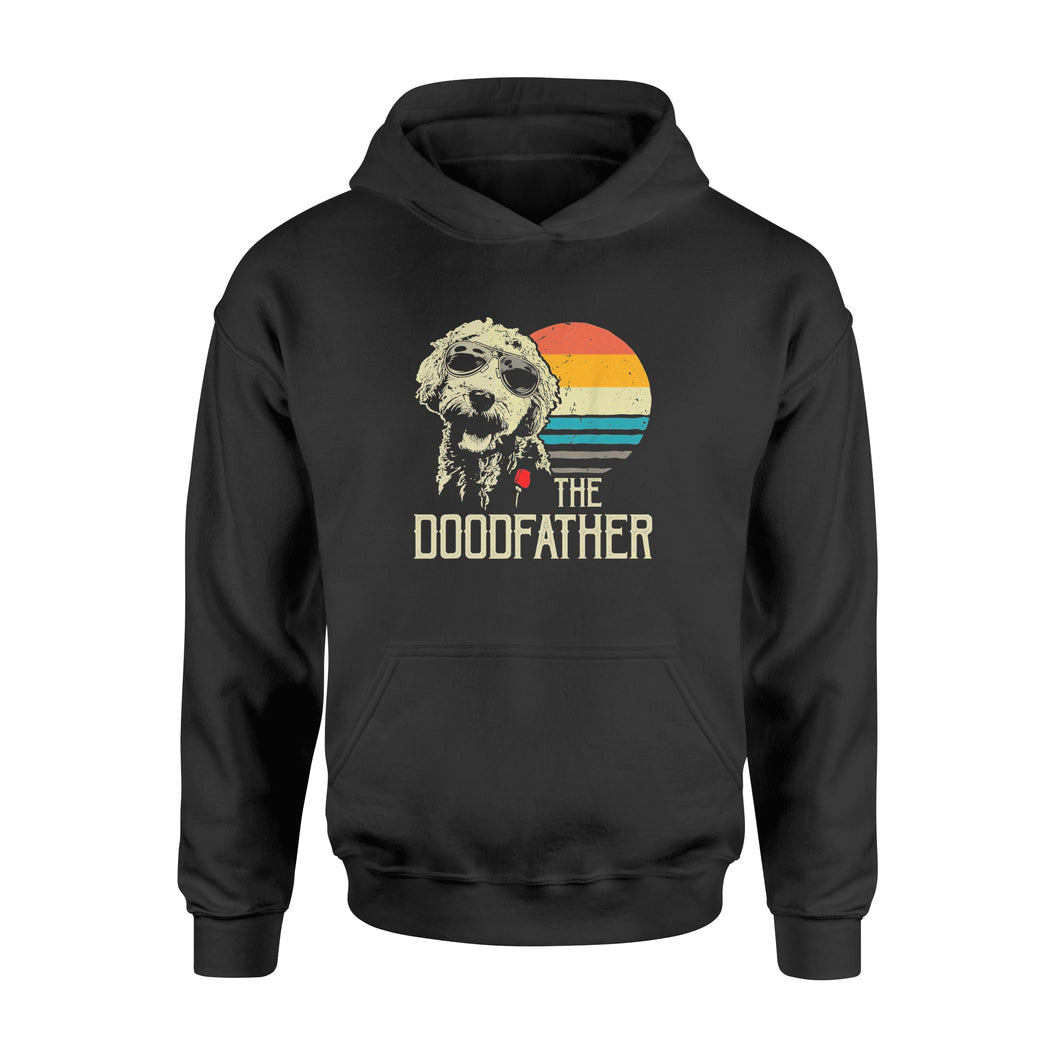 Mens The Doodfather Tshirt Goldendoodle Dad Shirt - Standard Hoodie
