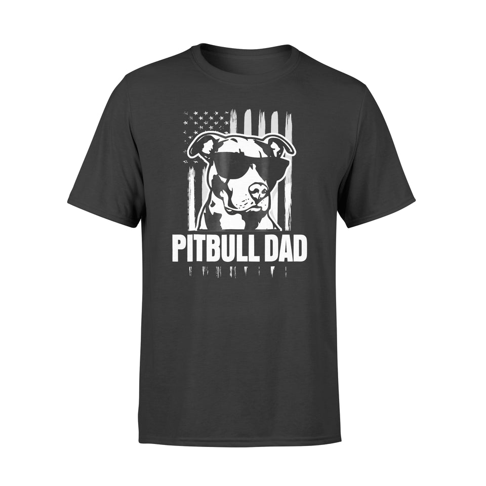 Pitbull Dad Mens Shirt Proud American Pit Bull Dog - Standard T-shirt