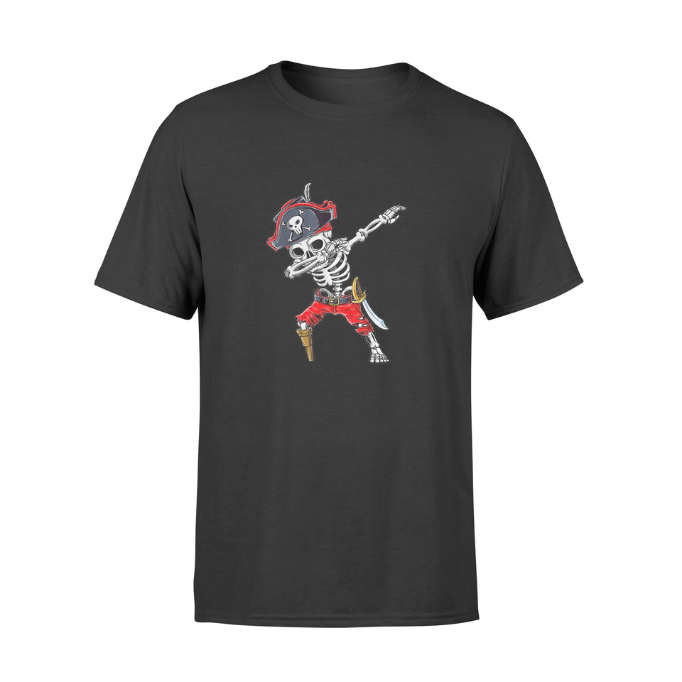 Halloween Dabbing Skeleton Pirate - Standard T-shirt