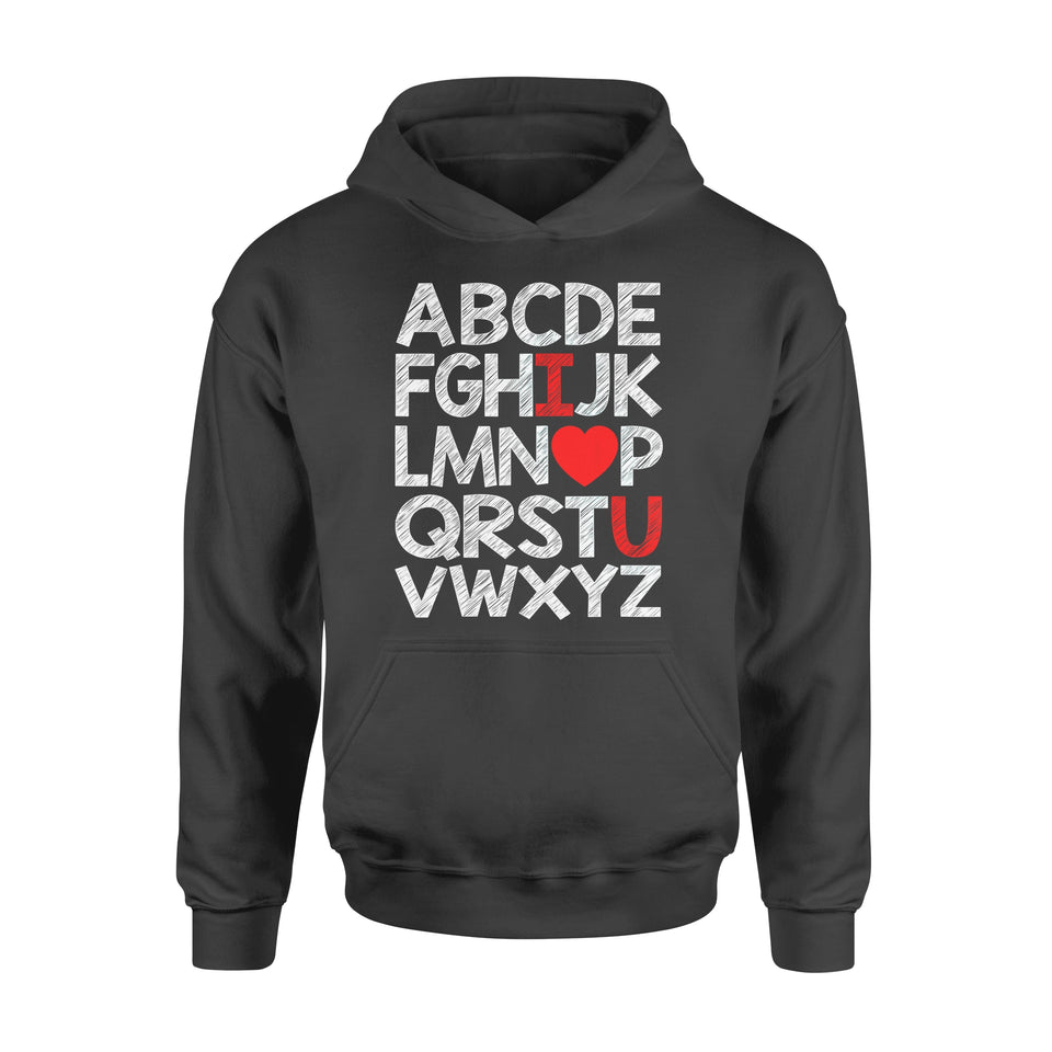 Funny Gift Idea Alphabet I Love You - Standard Hoodie