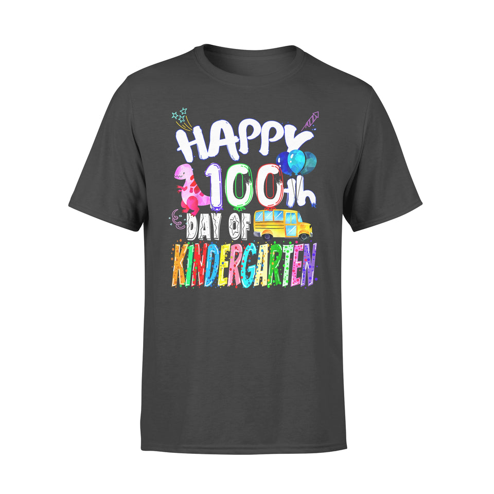 Funny Gift Idea Happy 100th day of Kidergarten - Standard T-shirt