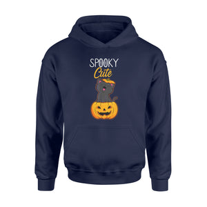 Halloween Pumpkin Shirt Spooky Cute Black Cat - Standard Hoodie