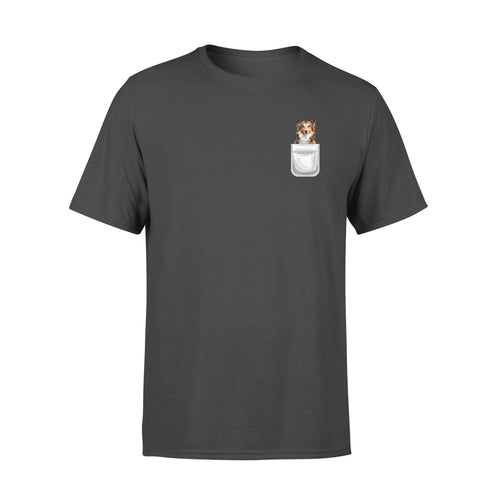 Dog gift idea Sheltie Shetland Sheedog Puppy In Your Pocket T-Shirt - Standard T-shirt