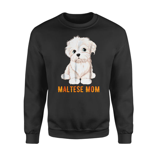 Dog gift idea Lovers Maltese Ideas Face T-Shirt - Standard Fleece Sweatshirt