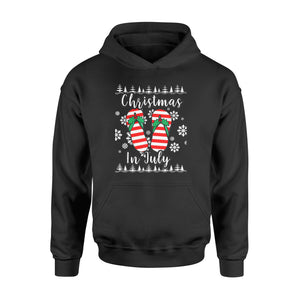 Christmas In July Ugly Christmas Flip Flops - Standard Hoodie