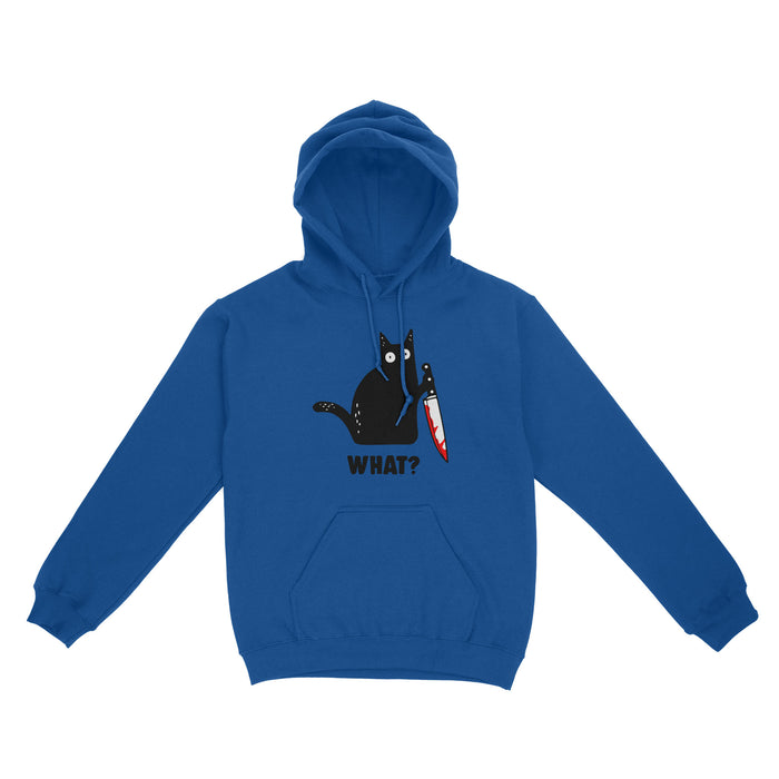 Gift For Cat Lover - What Muderous Black Cat With Knife - Standard Hoodie