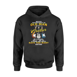 Never Underestimate An Old Man With A Guitar - Standard Hoodie
