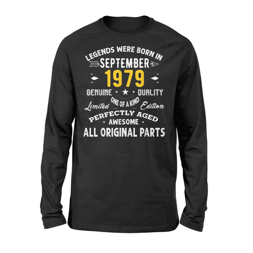 Vintage September Gift Ideas 1979 Birthday Gift For 40 Yrs Old M2 - Standard Long Sleeve