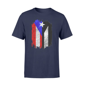 Puerto Rico Flag with Resiste Black Protest Flag Shirts - Standard T-shirt