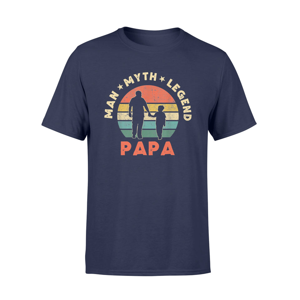 Father T-Shirt Papa Man Myth Legend - Standard T-shirt