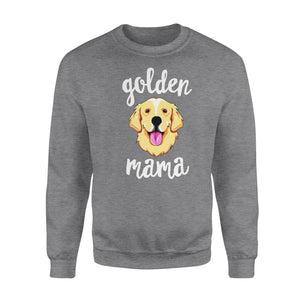 Dog Gift Idea - Golden Retriever Mama Mother For Dog Lovers - Standard Crew Neck Sweatshirt