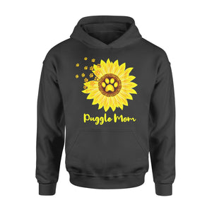 Dog gift idea Puggle Mom Sunflower Puppy T-Shirt - Standard Hoodie