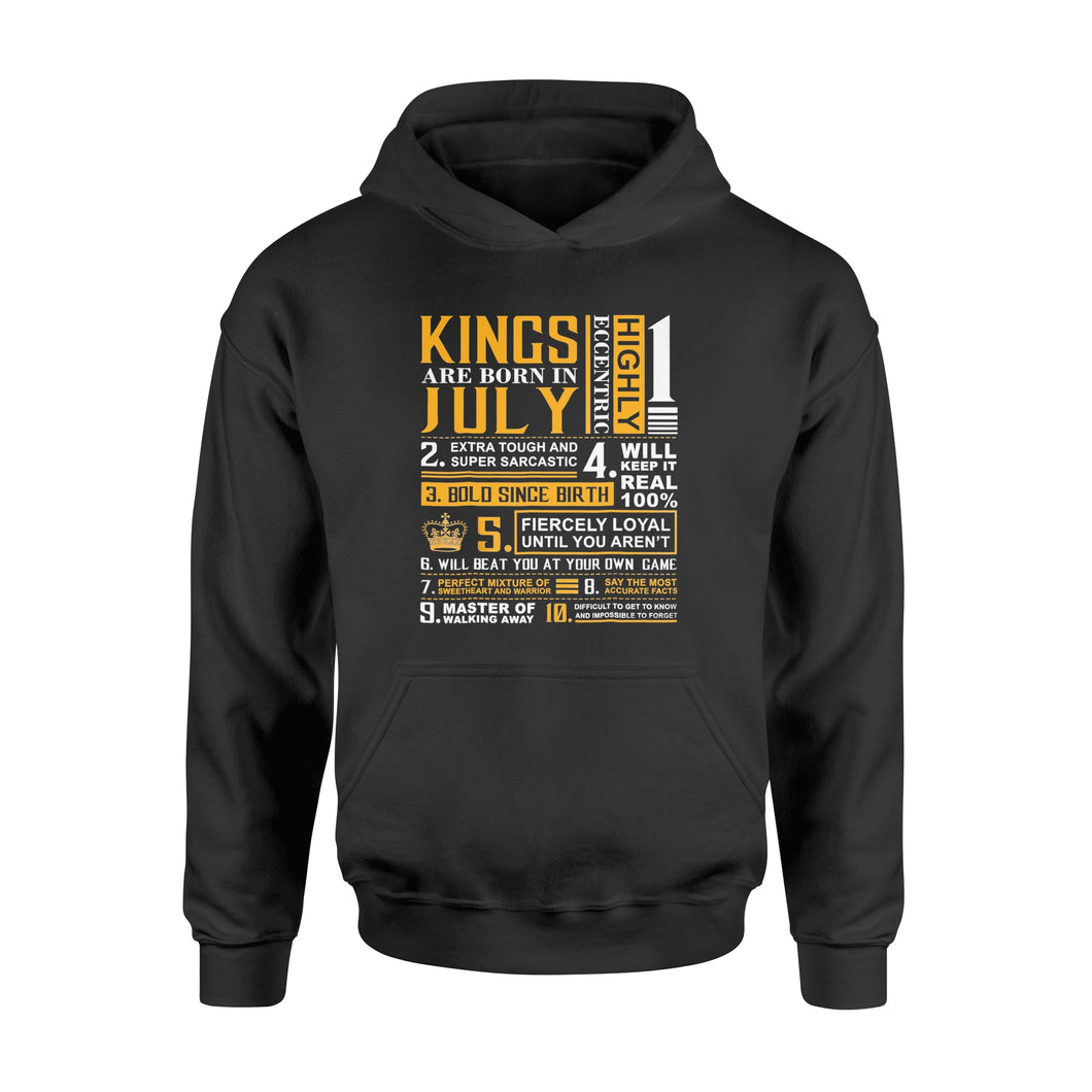 Birthday Gifts - Kings are Born In July - Standard Hoodie