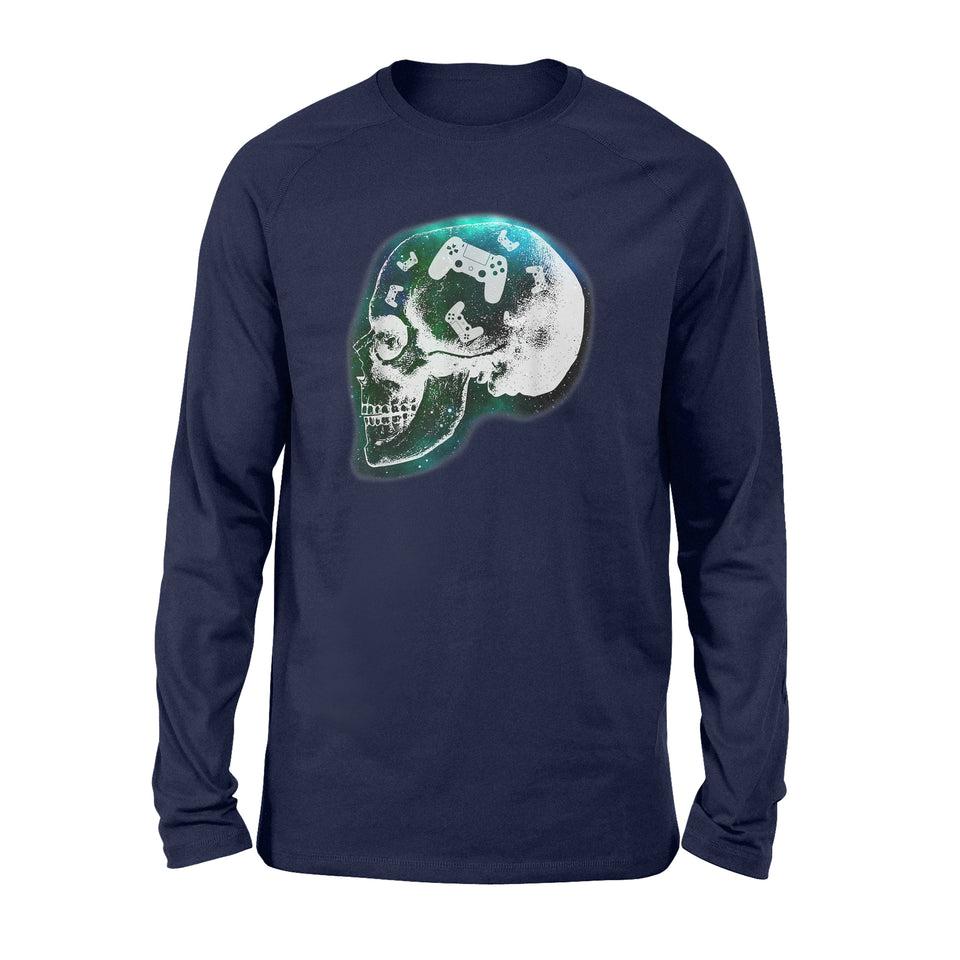Mind Controller Skull Gaming T-Shirt Gift - Standard Long Sleeve