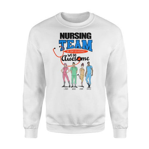 Personalized Nurse Christmas Gift Idea We Do Awesome - Standard Fleece Sweatshirt