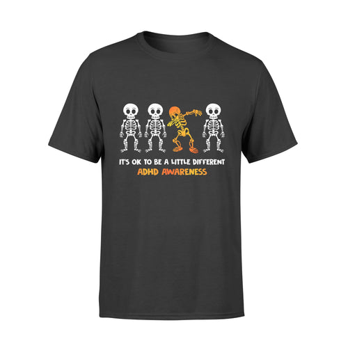 Halloween Gift Idea It's Ok To Be Little Different Adhd - Standard T-shirt