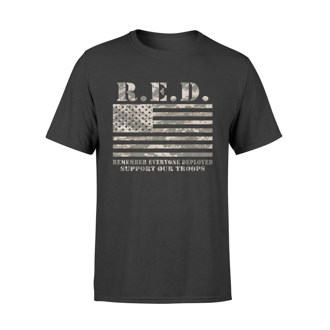 Red Support Our Troops Wear Red On Friday Military - Premium T-shirt