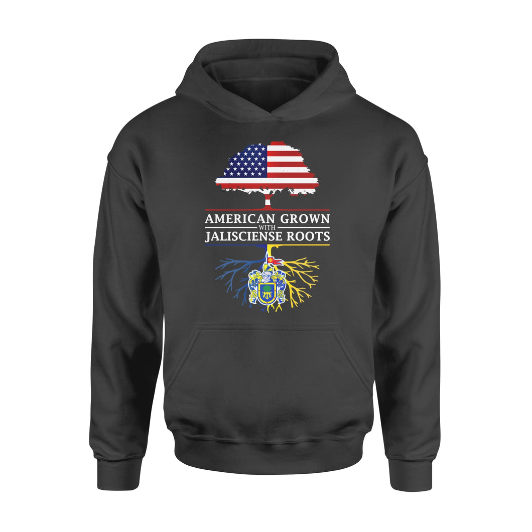 Funny Gift Idea American Grown With Jalisciense Roots - Standard Hoodie