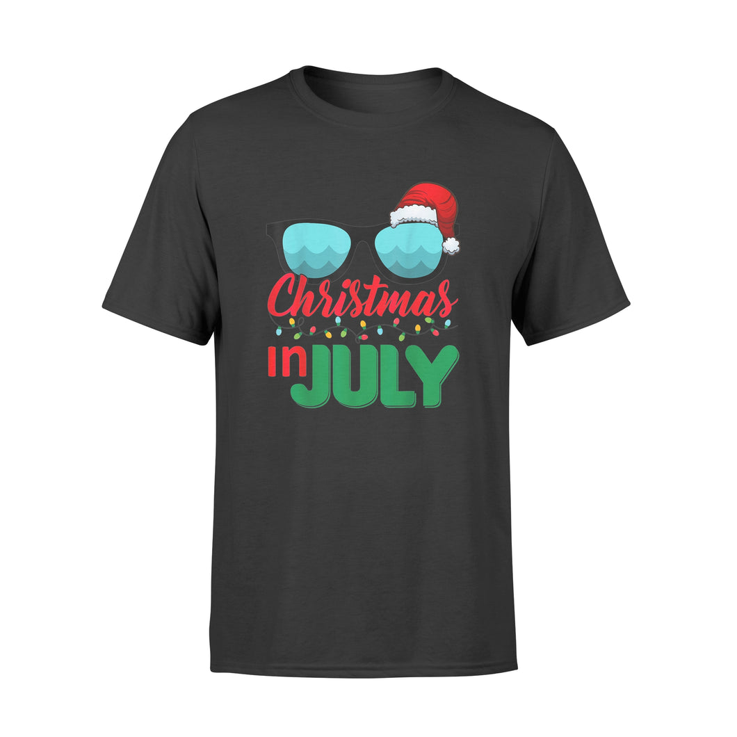 Christmas in July Santa Hat Sunglasses Summer Tshirt - Standard T-shirt