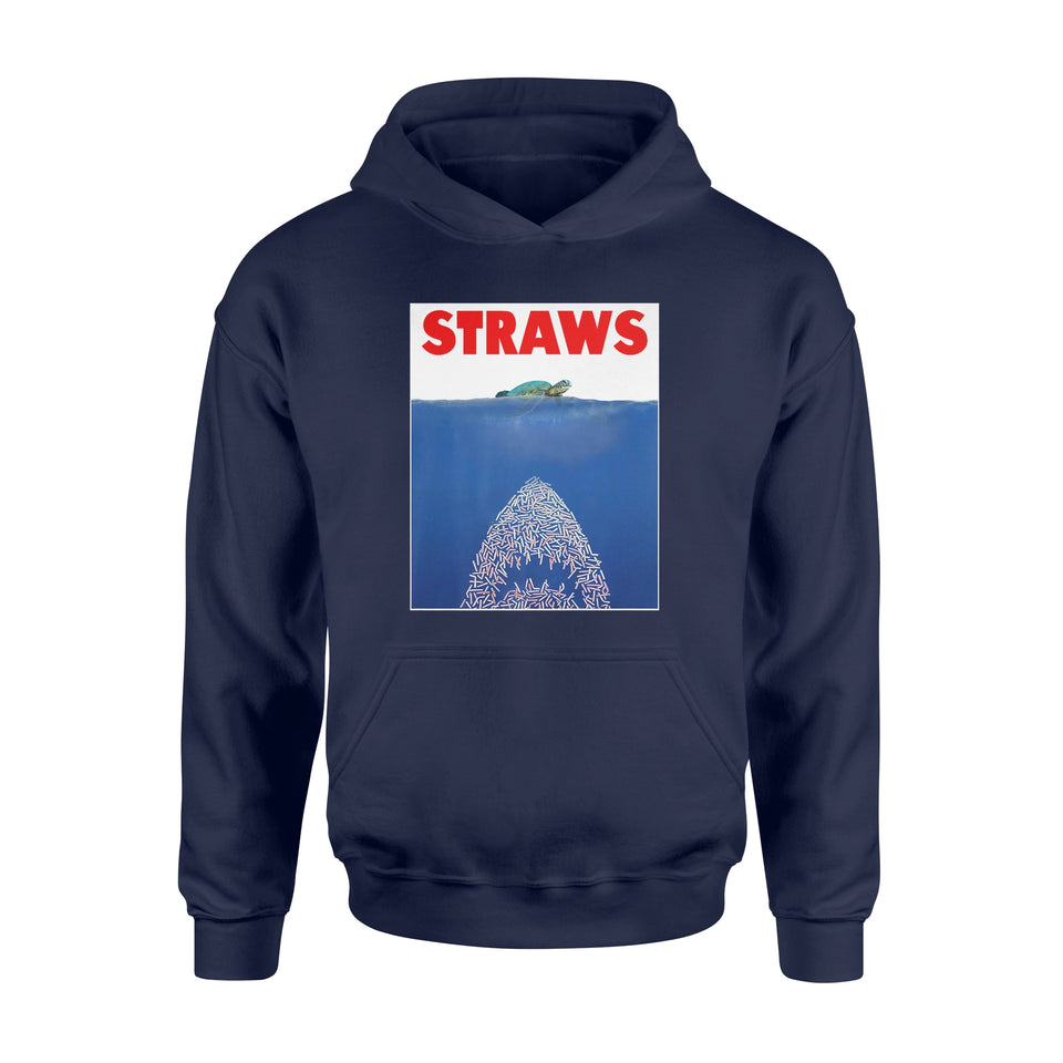 Anti Straws - Save The Sea Turtles Conservation Gift Shirt - Standard Hoodie