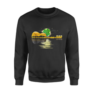 Funny Gift Idea Shamrock Guitar Lake Shadow - Standard Fleece Sweatshirt