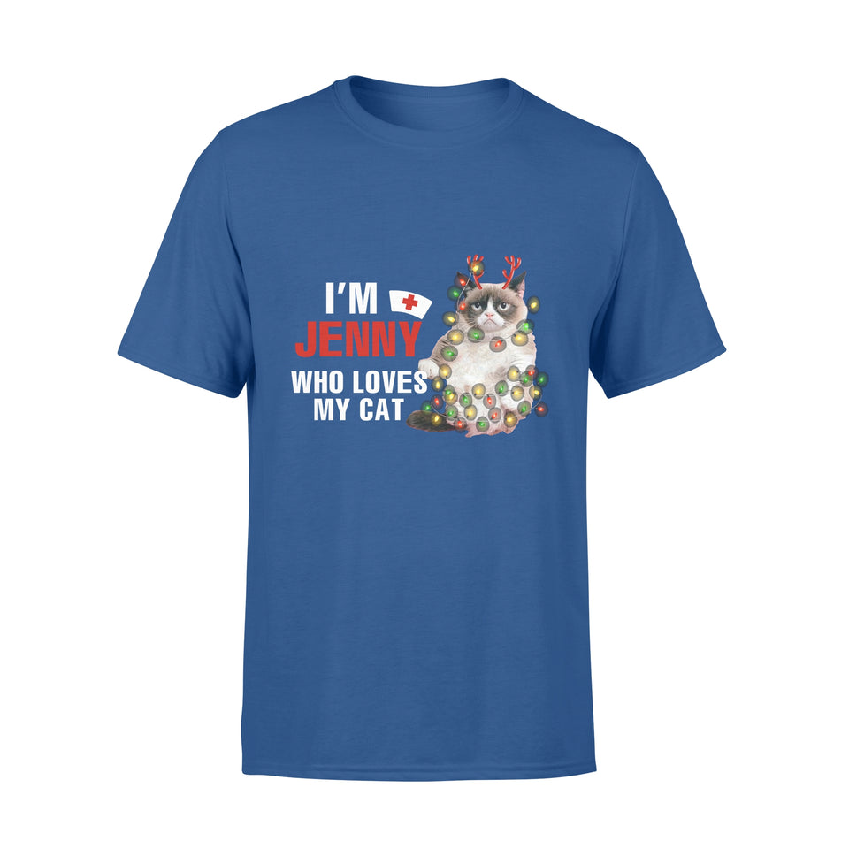 Personalized Nurse Christmas Gift Idea I'm (Name) Who Loves My Cat