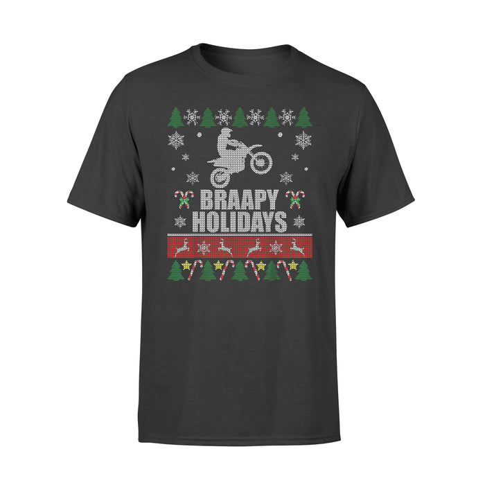 Christmas Gift Idea - Braapy Holidays Motocross - Standard T-shirt