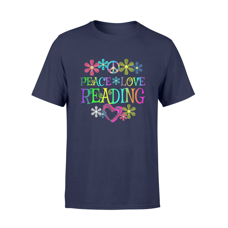 Book Shirt Peace Love Reading Books T-Shirt - Standard T-shirt