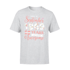 50th Birthday Gift Idea Made In September 1969 55 Years Of Being Awesome - Premium T-shirt