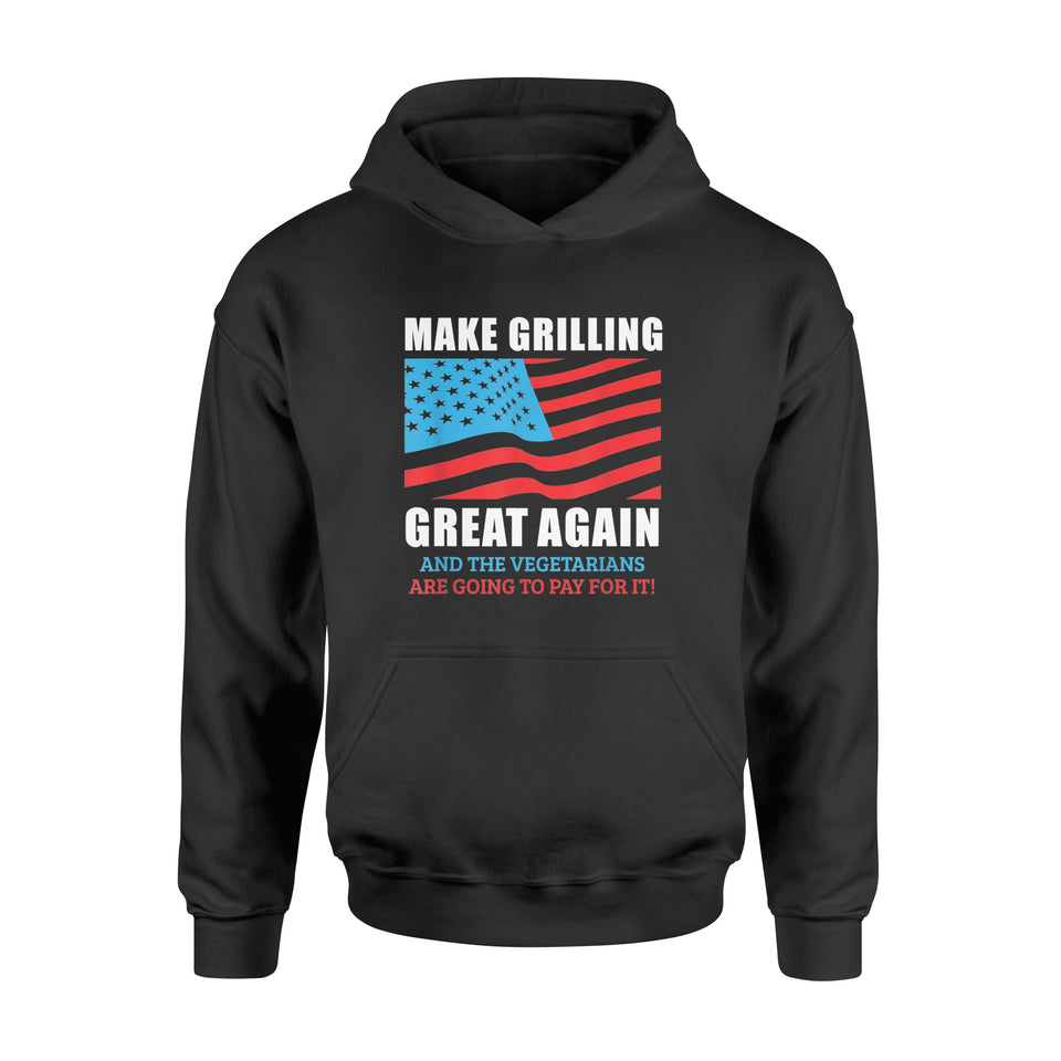 Make Grilling Great Again Trump BBQ Pit Master Dad T-Shirt - Standard Hoodie