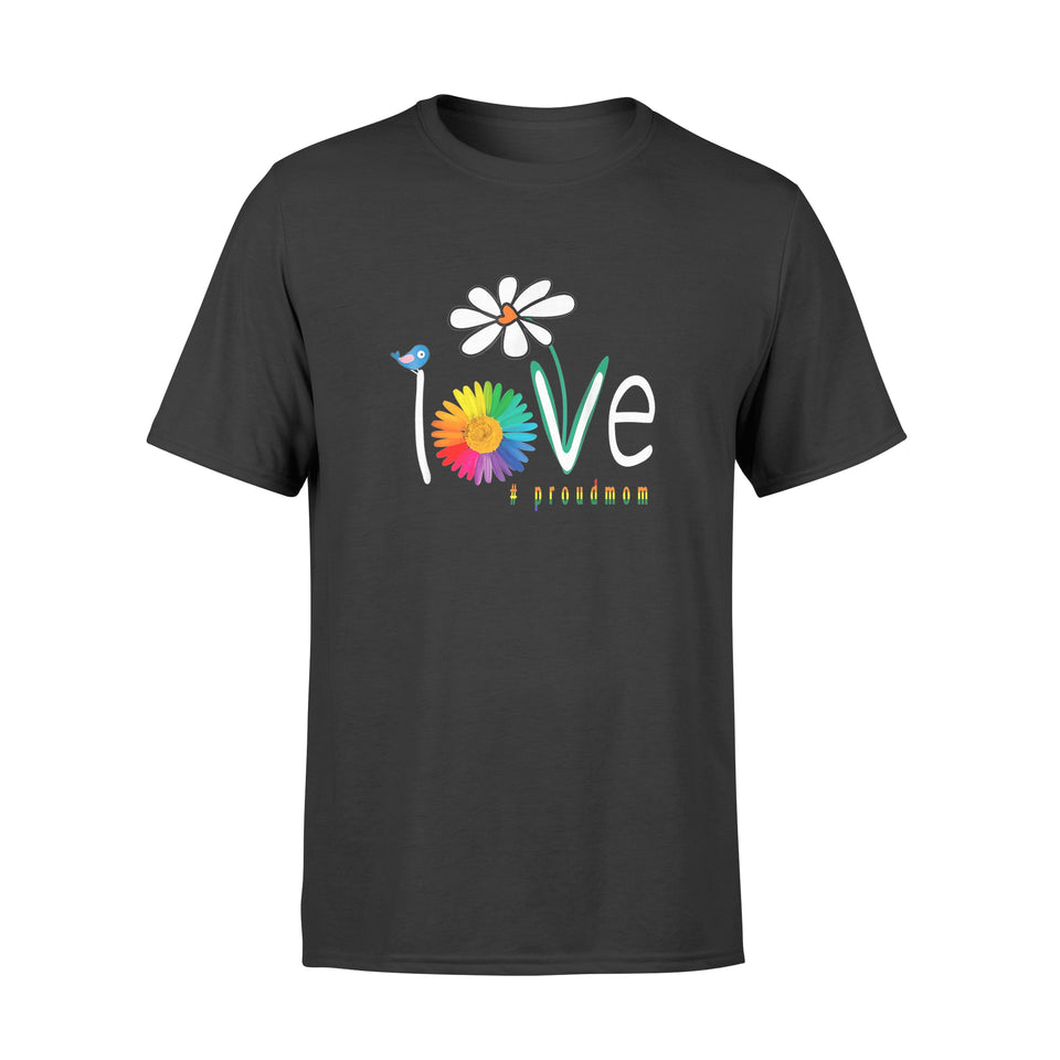 Love Gay Pride Proudmom Lgbt Gay Art Flower - Standard T-shirt