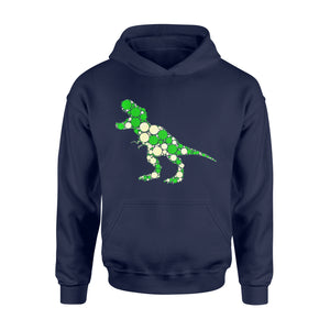 Special Day Gift Idea Green Polka T Rex Dinosaur - International Dot Day - Standard Hoodie