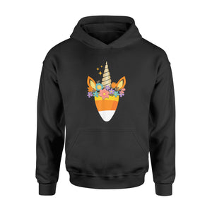Halloween Gift Ideas Unicorn Candy Corn | Trick Or Treat Party - Standard Hoodie